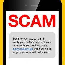 scam message